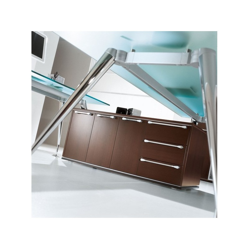 Bureau direction enosi avec retour sur meuble de rangement for Meuble sur bureau