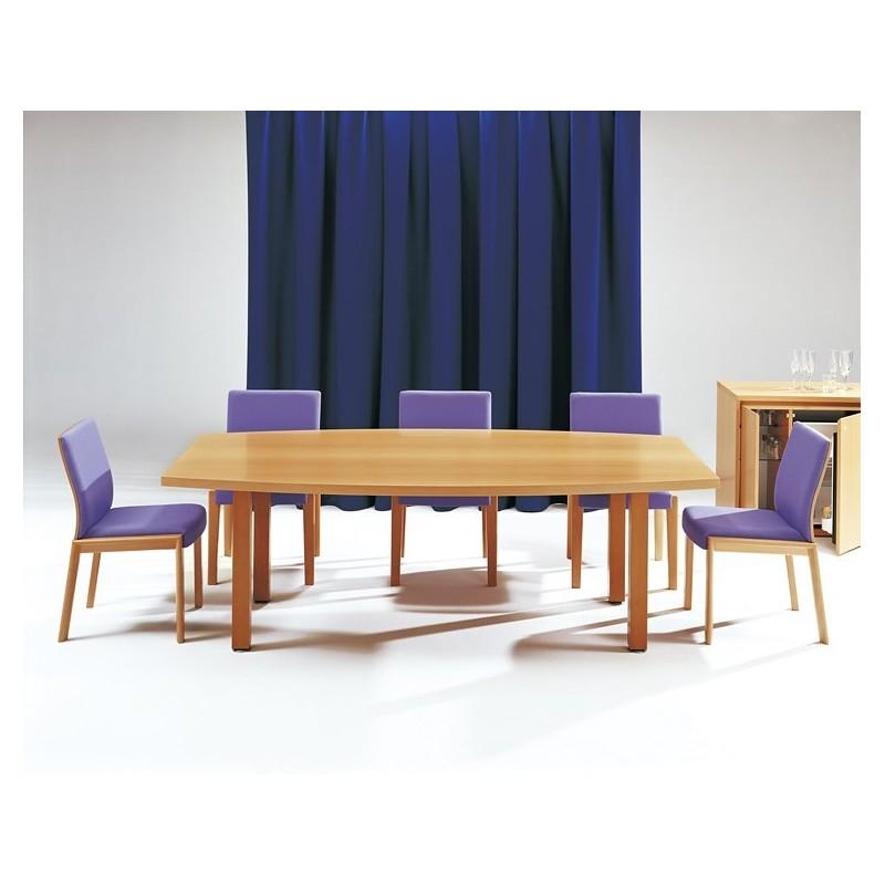 Table Elliptique Bois