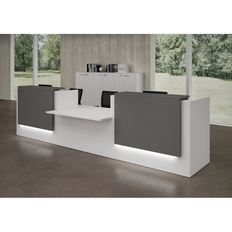 banque d 39 accueil z2 l 126 cm mobilier de bureau. Black Bedroom Furniture Sets. Home Design Ideas