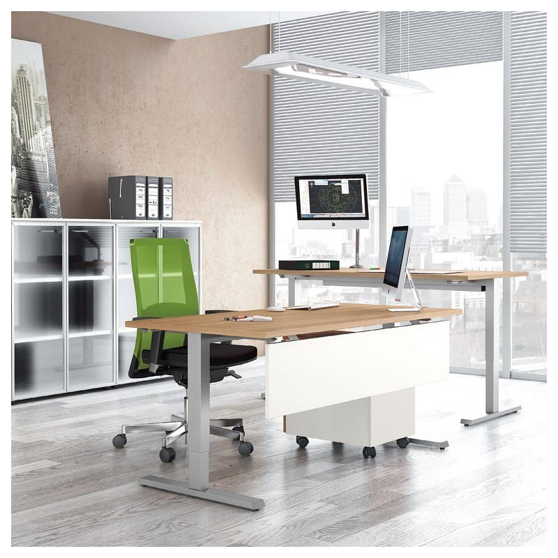 bureau r glable en hauteur programme up lacour mobilier devis bureaux o. Black Bedroom Furniture Sets. Home Design Ideas