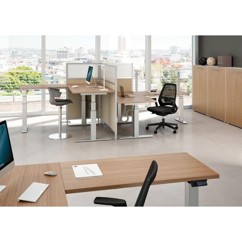 bureau r glable en hauteur lectriquement sit stand assis. Black Bedroom Furniture Sets. Home Design Ideas