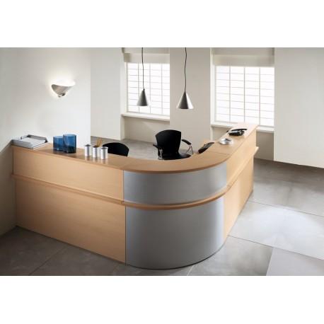 Réception,accueil + poste compact 90° ASK