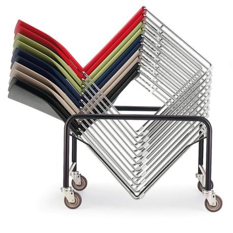 Chaise visiteur structure fil chromé CO1