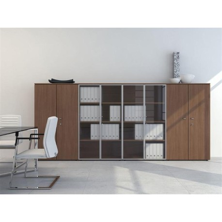 biblioth que portes pleines et vitr es mobilier de bureau. Black Bedroom Furniture Sets. Home Design Ideas