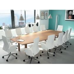 Table de réunion dessus forme tonneau