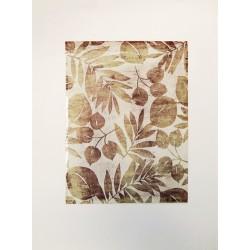 Tableau feuillage sur papier cristal