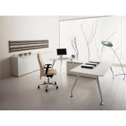 Bureau direction ENOSI avec retour sur meuble de rangement