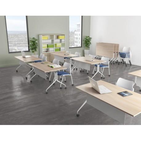 Table de réunion plateau rabattable TR 04