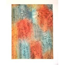 """Peinture contemporaine """" ressort de lumière """""""