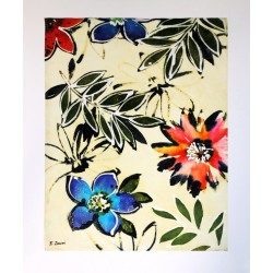 """Peinture florale """" souvenir """""""