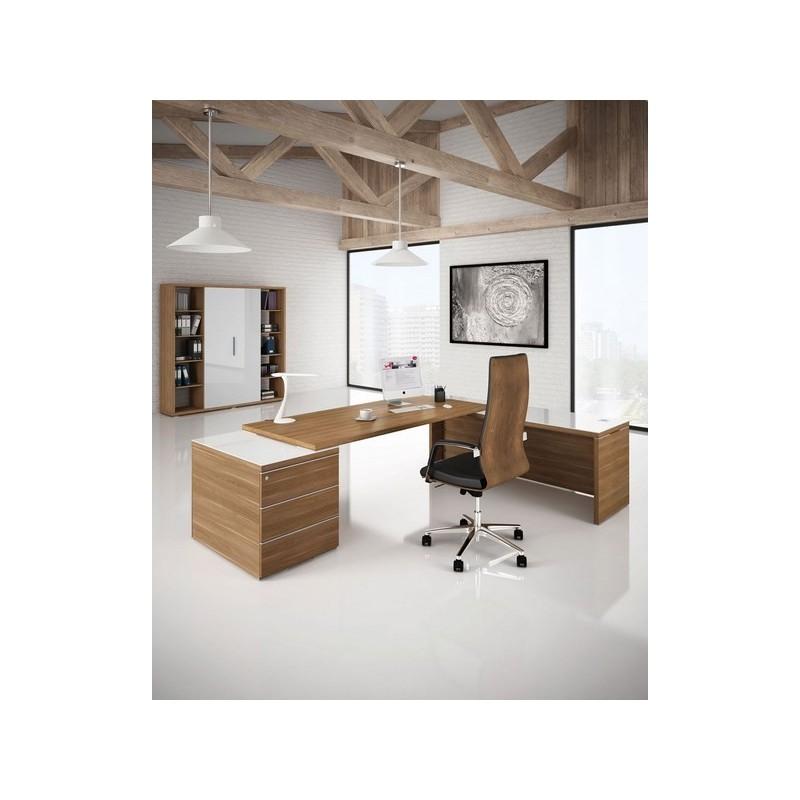bureau direction design kara avec retour mobilier de bureau. Black Bedroom Furniture Sets. Home Design Ideas